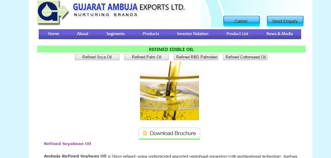 Best edible oil companies in India 2019