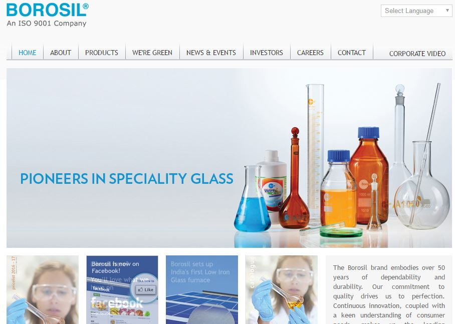 Borosil Glass Works Limited Top Most Famous Glass Manufacturing Companies in India 2018
