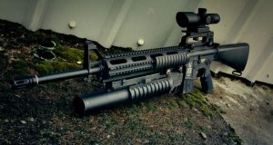 M4 Carbine Commando with M203 Grenade Launcher Top 10 Best Powerful Machine Guns in The World 2017