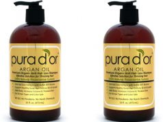 PURA D'OR Anti-Hair Loss Premium Organic Argan Oil Shampoo Top Most Popular Shampoo Brands in The World 2018