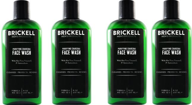 Brickell Men's Purifying Charcoal Face Wash for Men – 8 oz Top Popular Face Wash Brands For Men in World 2018