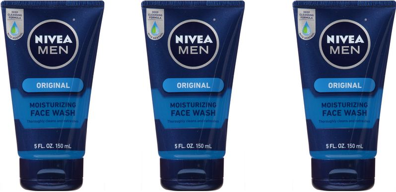 NIVEA Men Original Moisturizing Face Wash 5 Fluid Ounce Top Famous Face Wash Brands For Men in World 2018