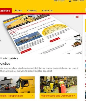 DHL Top Most Popular Logistics Companies in India 2018