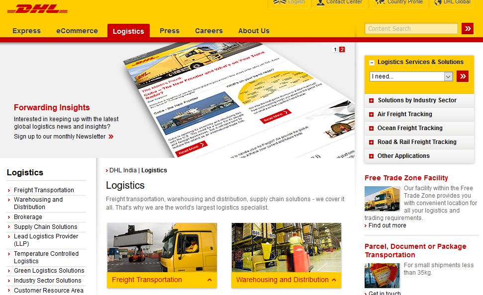 Best logistic companies in India
