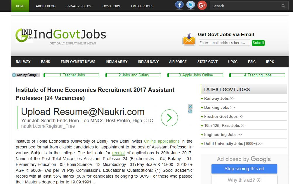 Best GOVT. jobs sites in India