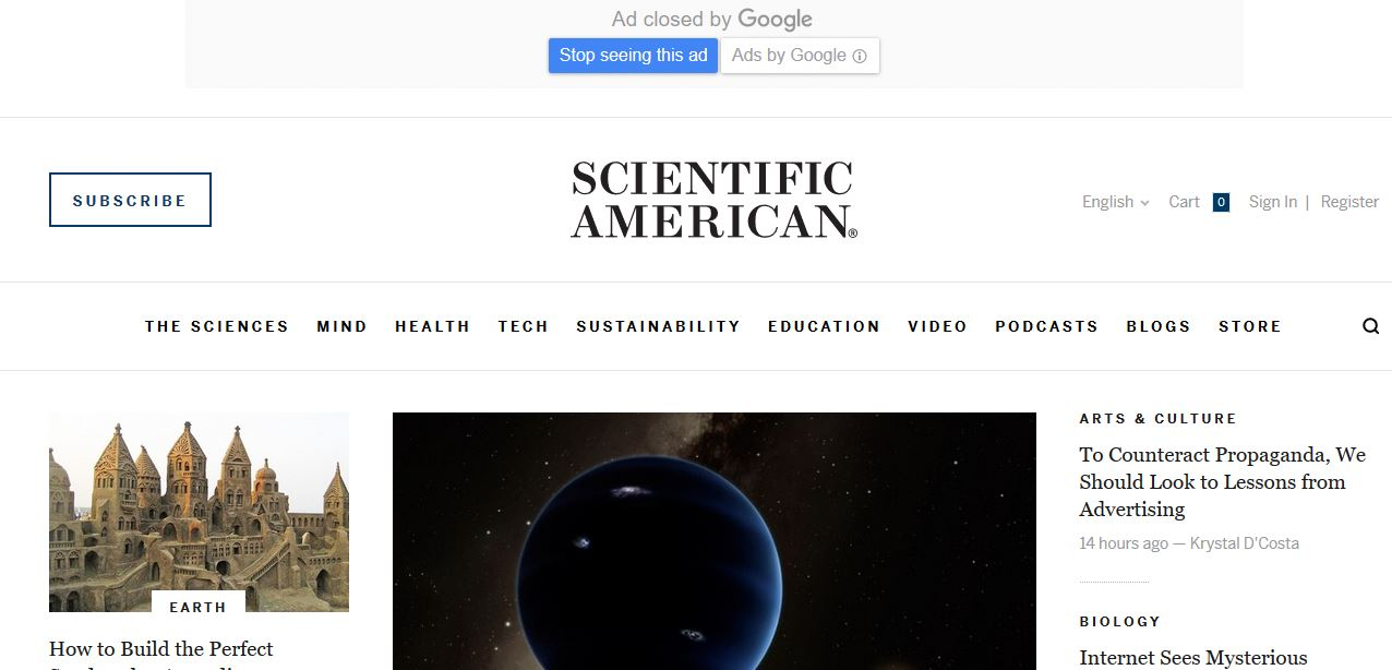 Best science websites
